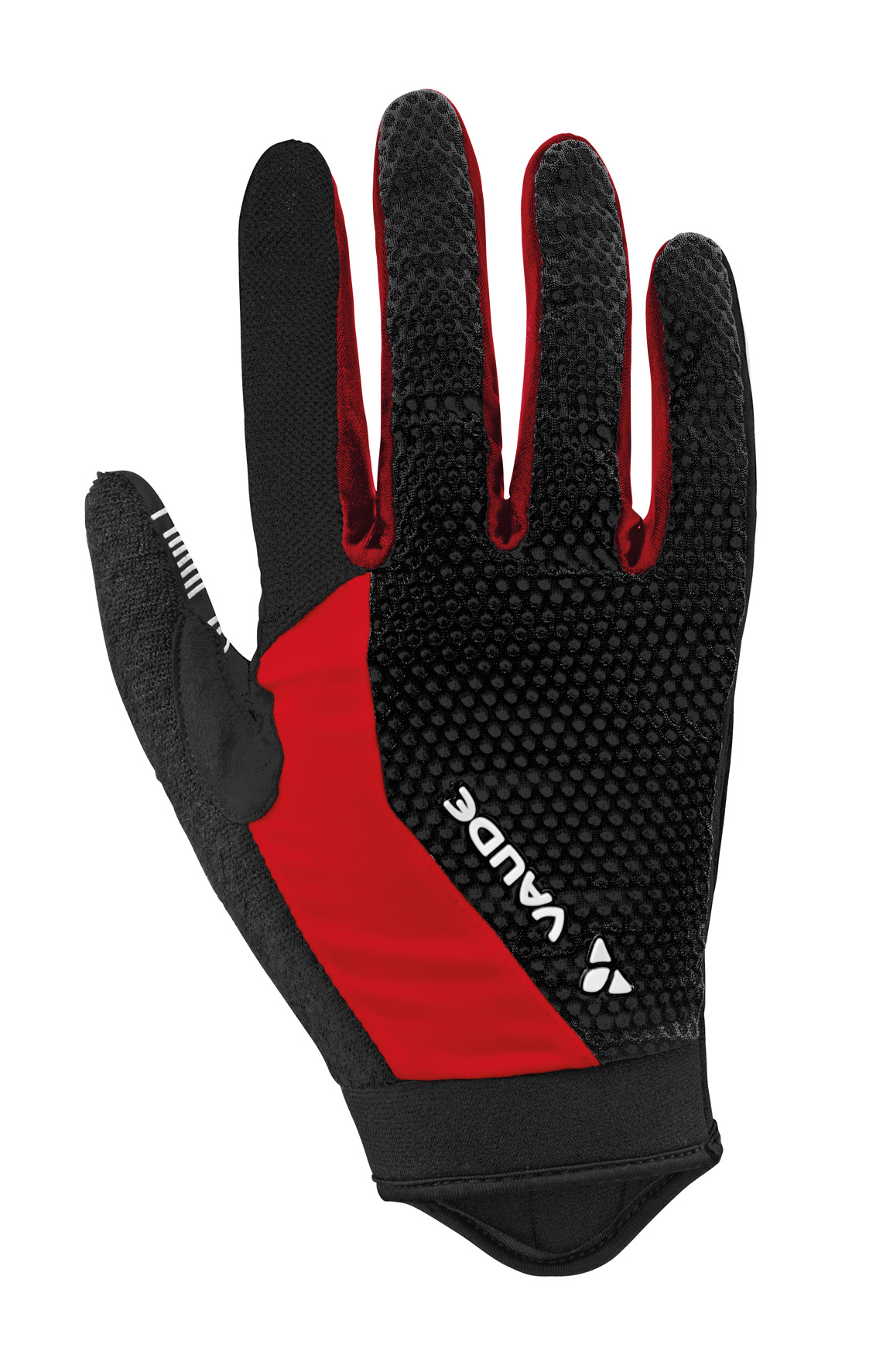VAUDE Men´s Dyce Gloves black/red Größe 7 - schneider-sports