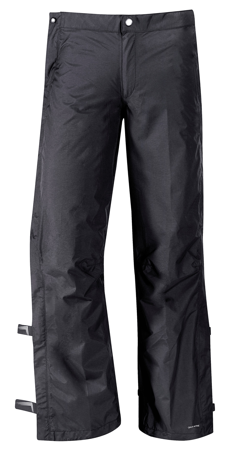 VAUDE Men´s Yaras Rain Zip Pants black Größe L - schneider-sports