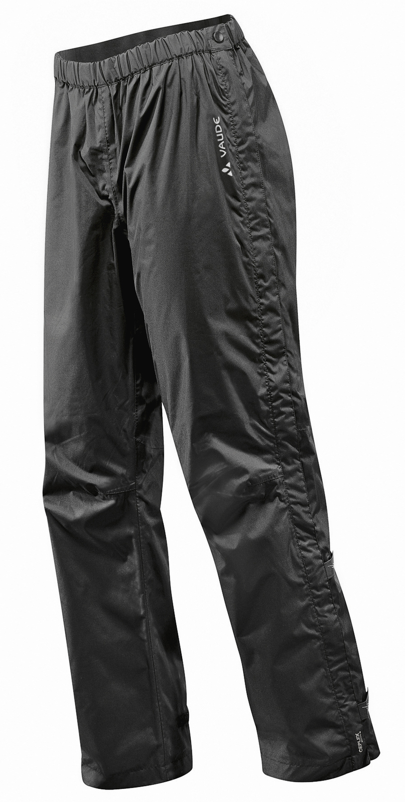 VAUDE Men´s Fluid Full-zip Pants II S/S black Größe XL-Short - schneider-sports