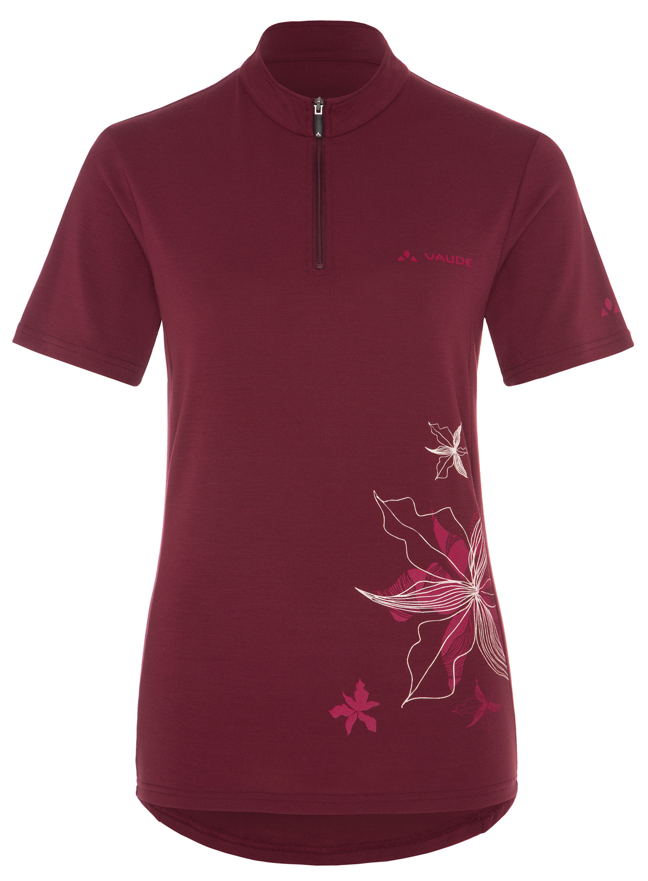 Women´s Sentiero Shirt claret red Größe 36 - schneider-sports