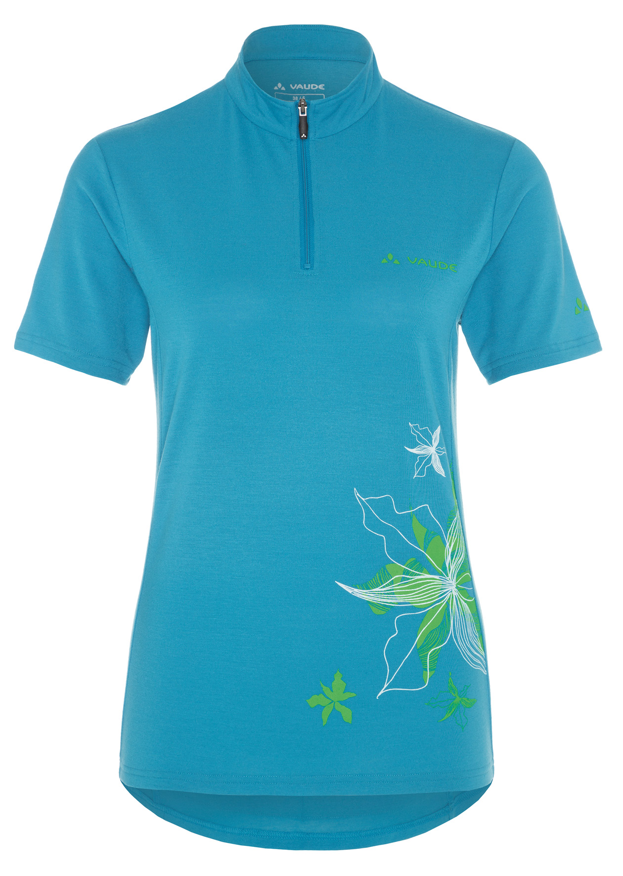 Women´s Sentiero Shirt teal blue Größe 46 - schneider-sports