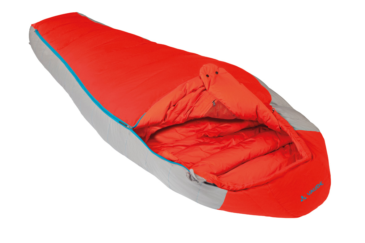 VAUDE Cheyenne 500  orange Gr. right Unisex - 422628 -  Outdoor  Schlafsäcke  Daunen